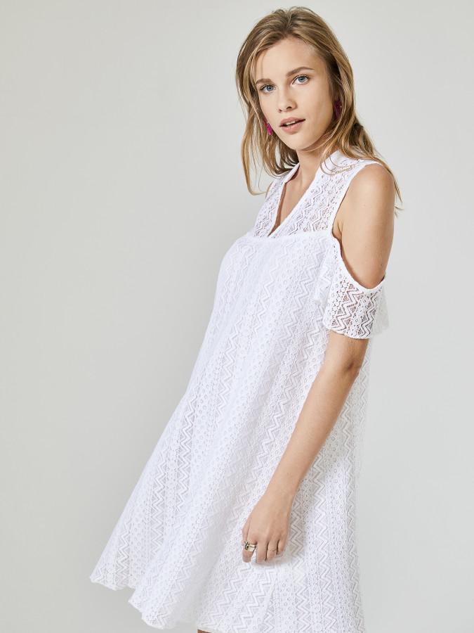XINT - Xint Yarim Hakim Yaka Volanlı Elbise (1)