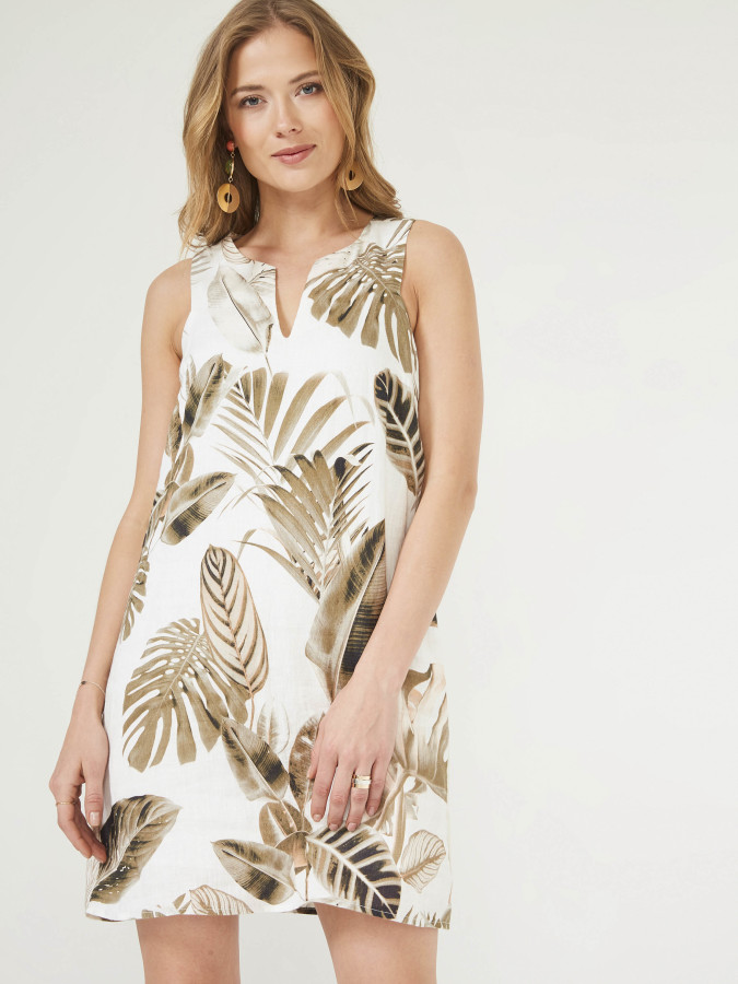 XINT - Xint Yuvarlak Yaka Desenli Elbise (1)