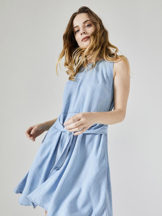 Xint Yuvarlak Yaka Elbise - Thumbnail