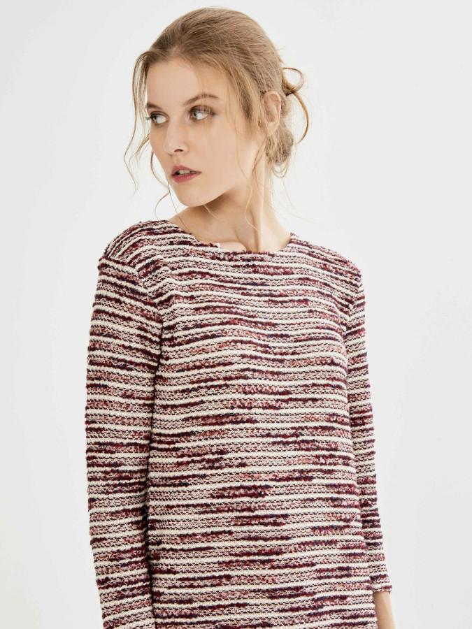 XINT - Xint Yuvarlak Yaka Garnili Elbise (1)