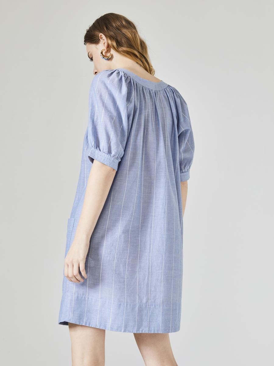 Xint Yuvarlak Yaka Rahat Kesim Elbise
