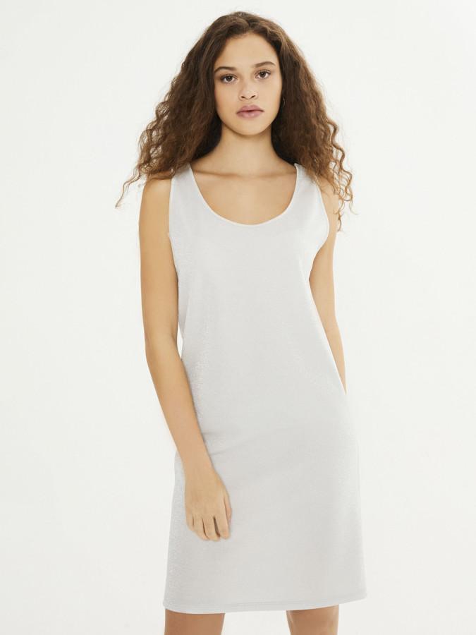 XINT - Xint Yuvarlak Yaka Üstü Şifon Garnili Elbise (1)