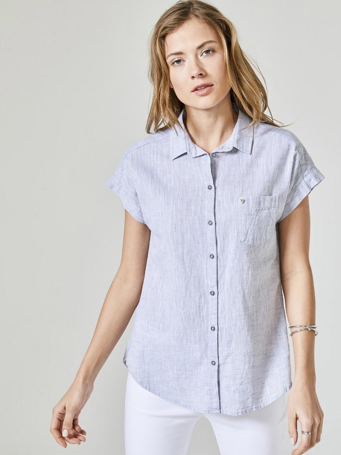 XINT - Xint Düşük Kollu Tek Cepli Basic Gömlek