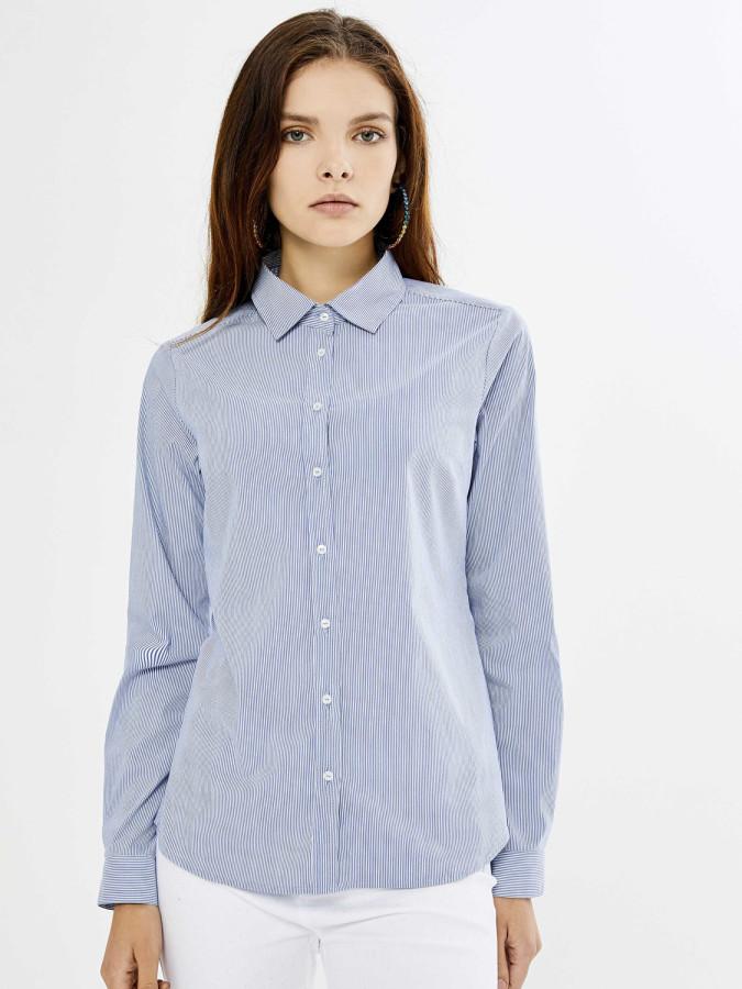 XINT - Xint Klasik Yaka Çizgili Gömlek (1)