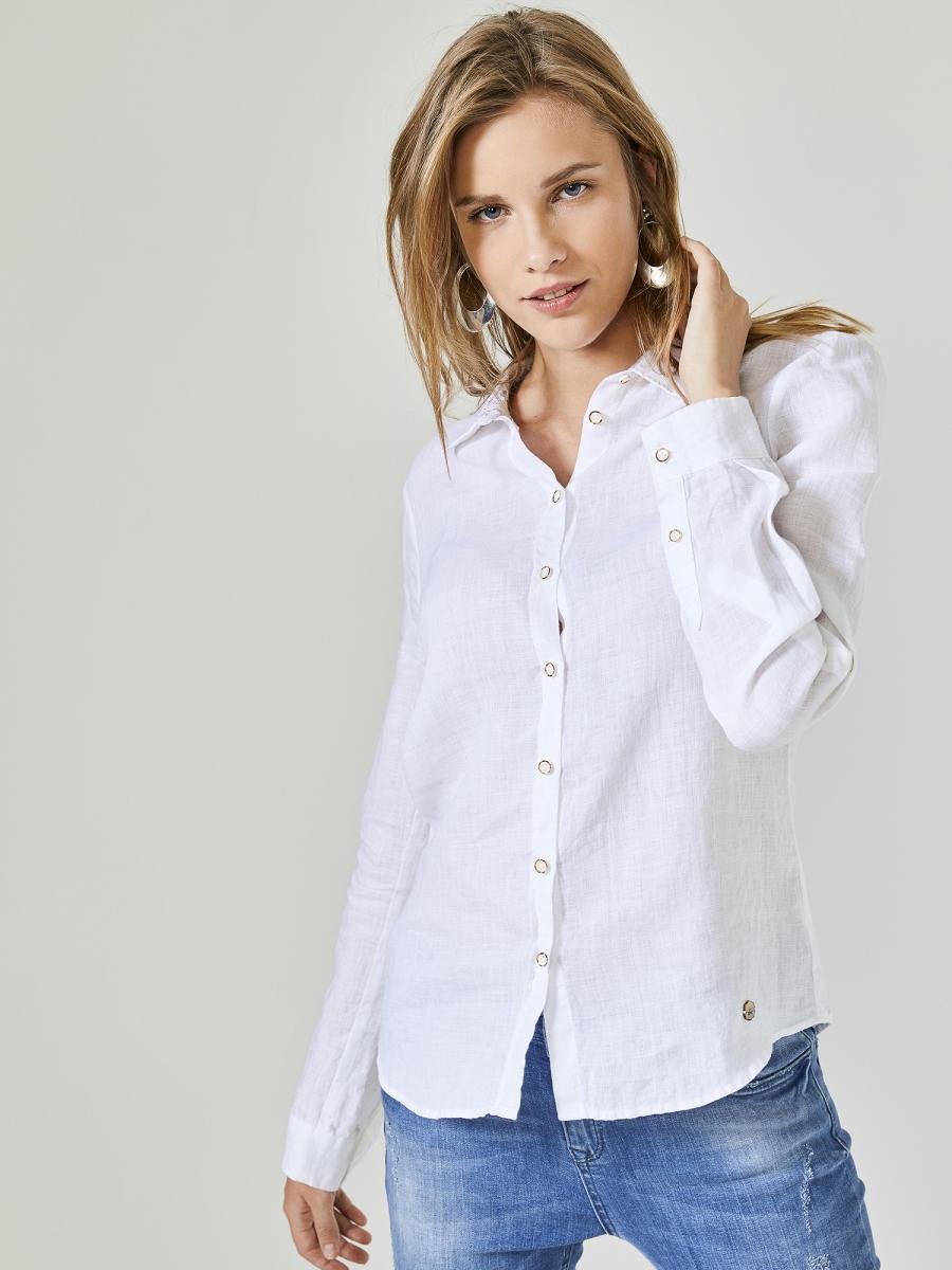 Xint Küçük Yakalı %100 Keten Gömlek