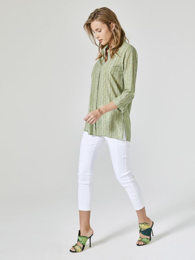 XINT - Xint Küçük Yakalı Truvakar Kollu Tunik Gömlek (1)