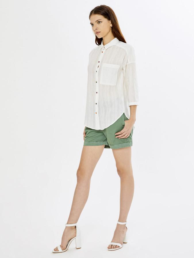 XINT - Xint Rahat Form Cep İnci İşlemeli Gömlek (1)