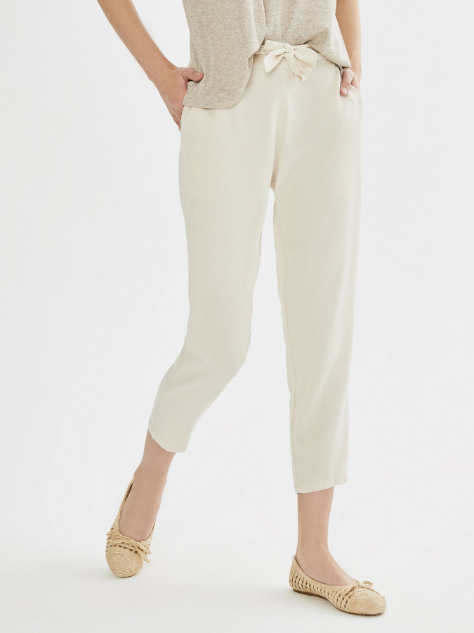 XINT - Xint Normal Bel Arkası Lastikli Rahat Kesim Pantolon (1)