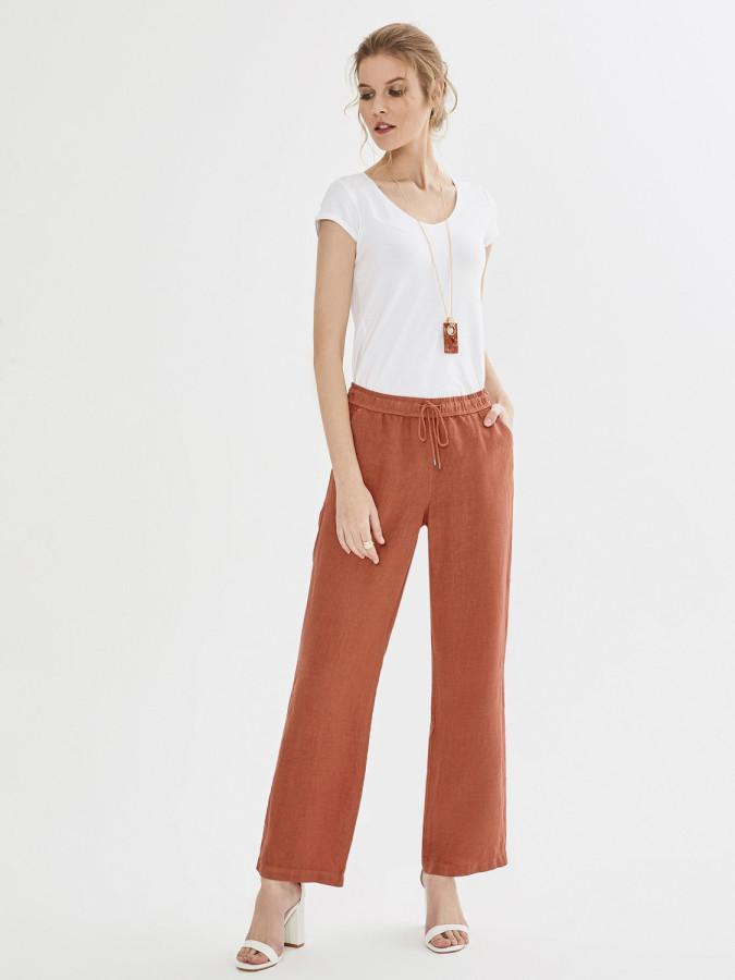 XINT - Xint Normal Bel %100 Keten Pantolon (1)