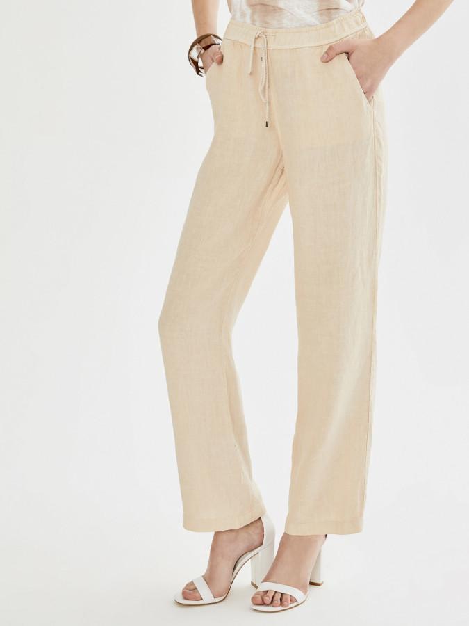 Xint Normal Bel %100 Keten Pantolon - Thumbnail