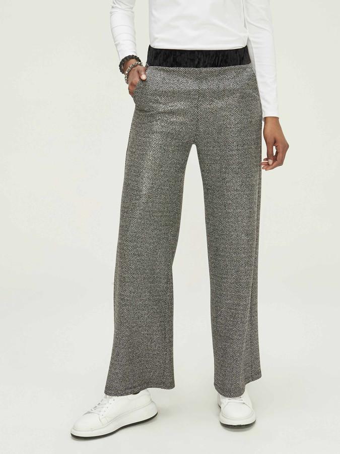 XINT - Xint Normal Bel Geniş Paça Pantolon (1)