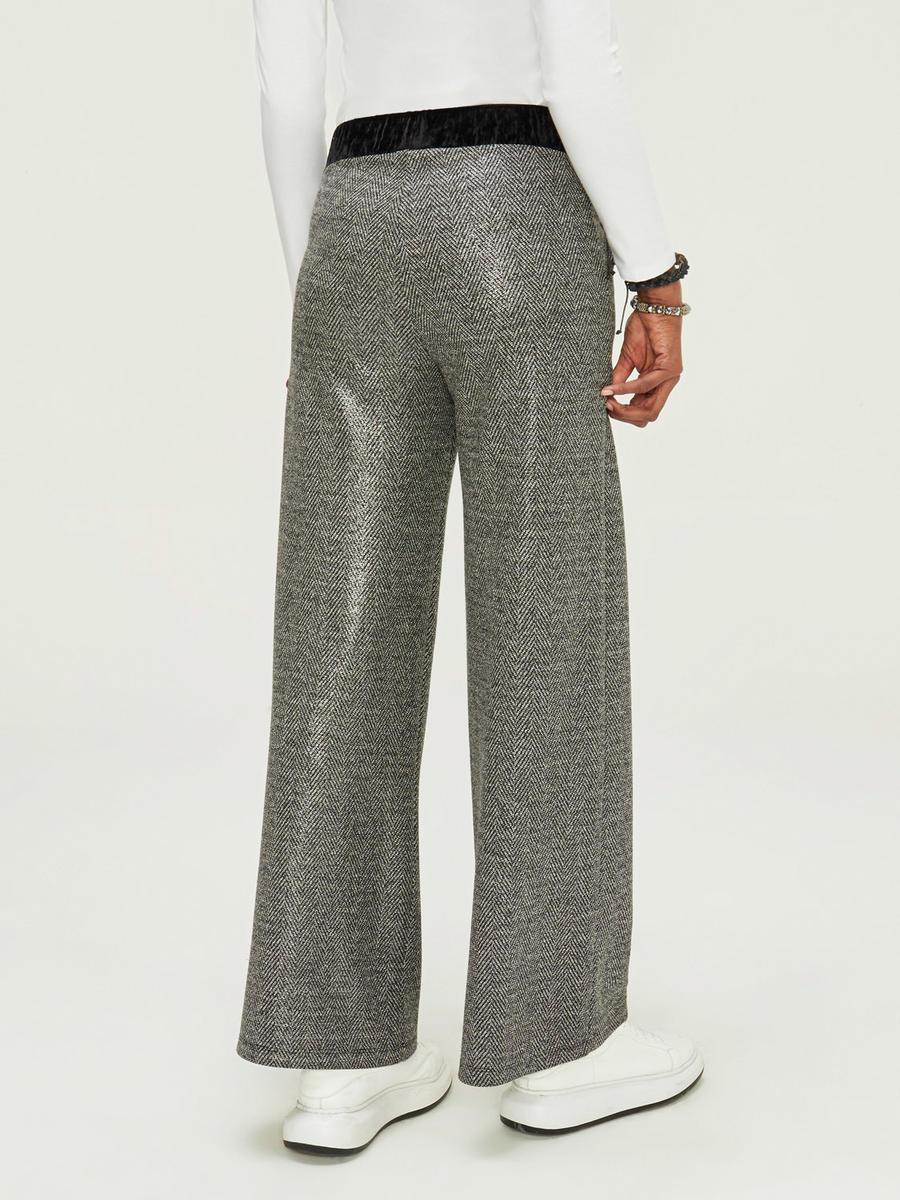 Normal Bel Geniş Paça Pantolon