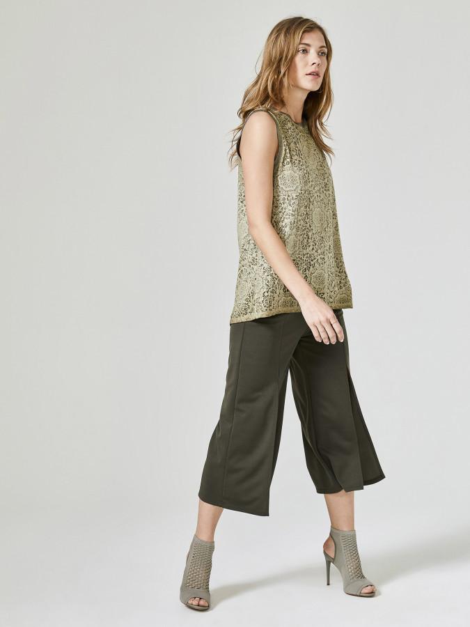 XINT - Xint Normal Bel Önü Yırtmaç Detaylı Pantolon