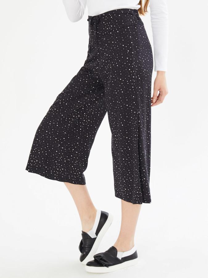 Xint Normal Bel Yandan Yırtmaçlı Culotte Pantolon - Thumbnail