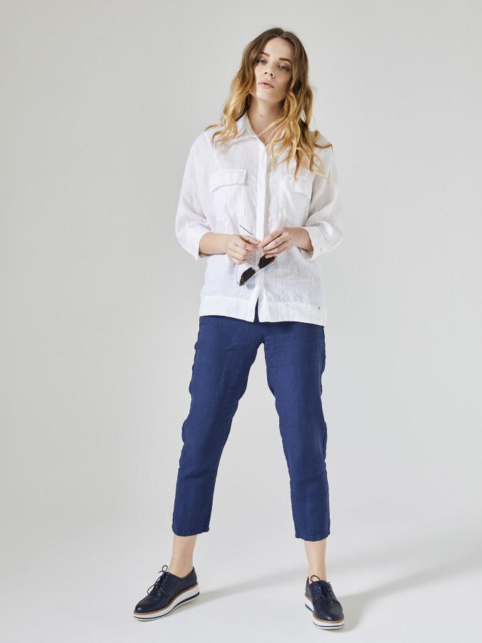 XINT - Xint Rahat Kesim %100 Keten Pantolon