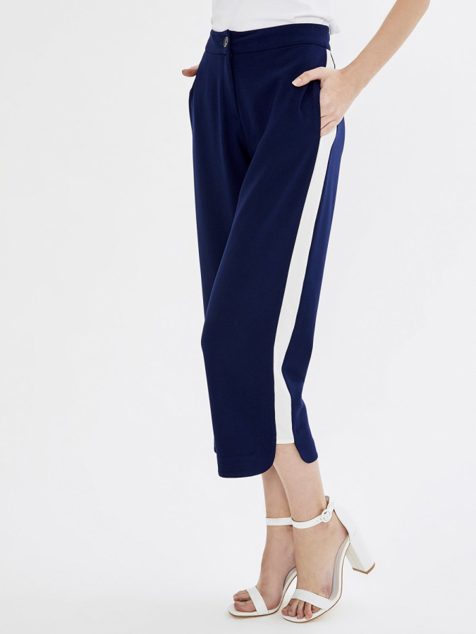 Xint Yüksek Bel Oval Paça Pantolon - Thumbnail