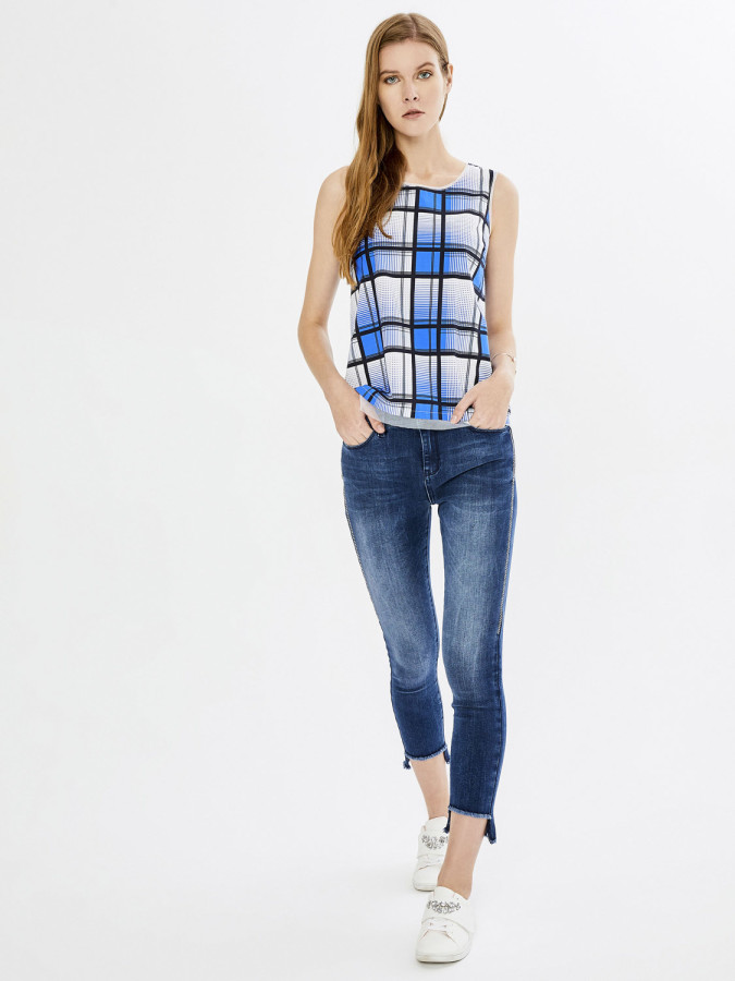 XINT - Xint Yüksek Bel Taş İşlemeli Pantolon (1)