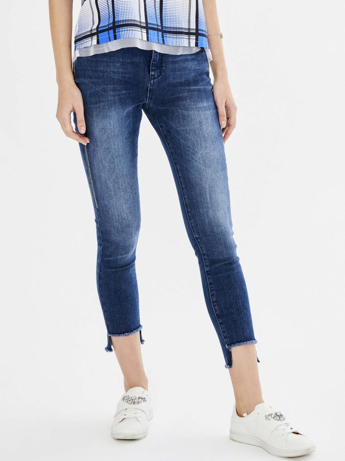 Xint Yüksek Bel Taş İşlemeli Pantolon - Thumbnail