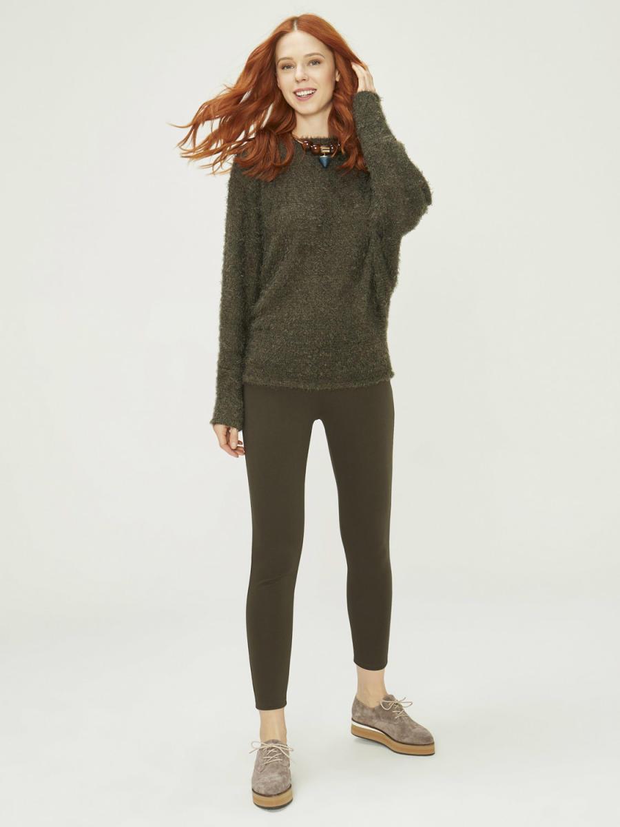 Kayık Yaka Örme Sweatshirt