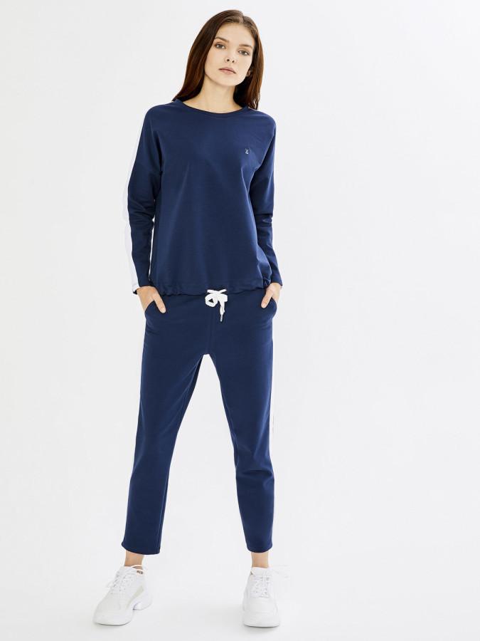 XINT - Xint Kol Üstü Şeritli Etek Ucu Bağlamalı Sweatshirt (1)