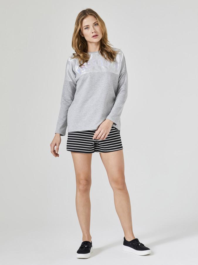 XINT - Xint Yuvarlak Yaka Baskılı Sweatshirt (1)