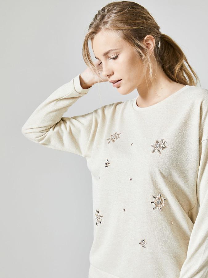 XINT - Xint Yuvarlak Açık Yaka Sweatshirt