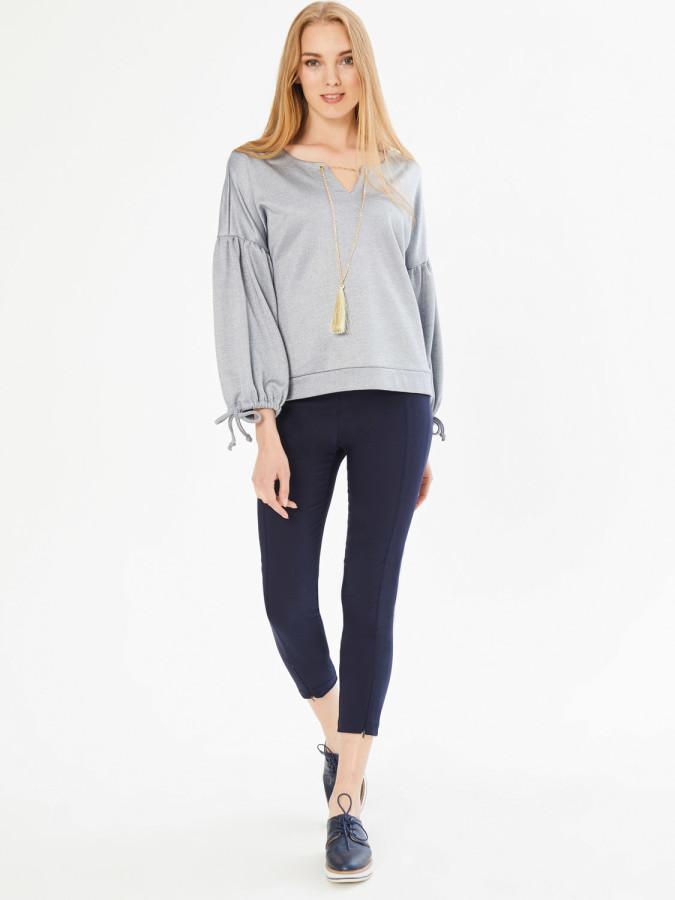 XINT - Xint Yuvarlak Yaka Zincir Detaylı Sweatshirt
