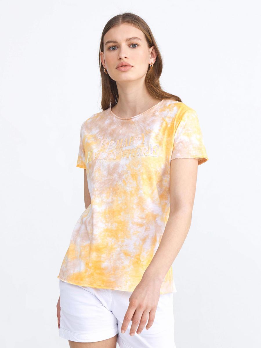Yuvarlak Yaka %100 Pamuk Rahat Kesim Baskılı Tişört