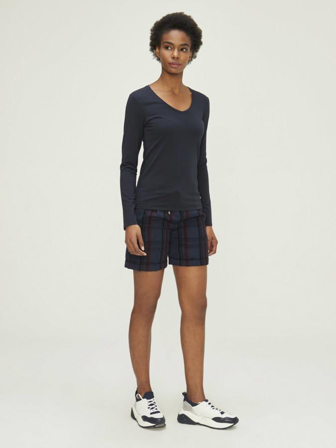 XINT - Xint V Yaka Uzun Kol Basic Tişört (1)