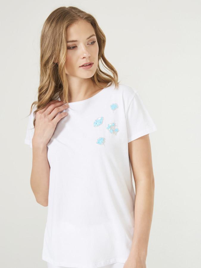 XINT - Xint Yakası İşlemeli Tişört