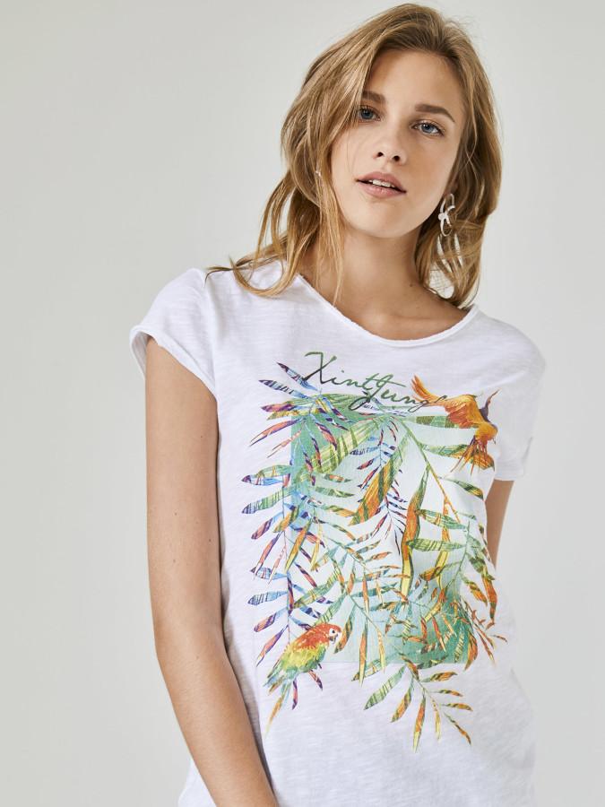 XINT - Xint Yuvarlak Yaka Baskılı Tişört