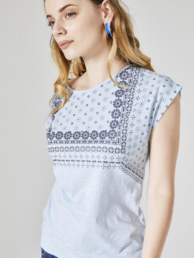XINT - Xint Yuvarlak Yaka Önü Baskılı Tişört