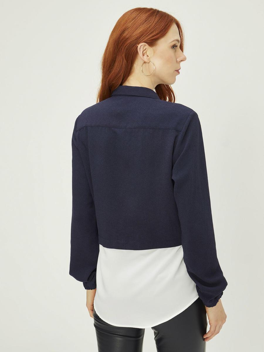Gömlek Detaylı Sweat Formlu Tunik