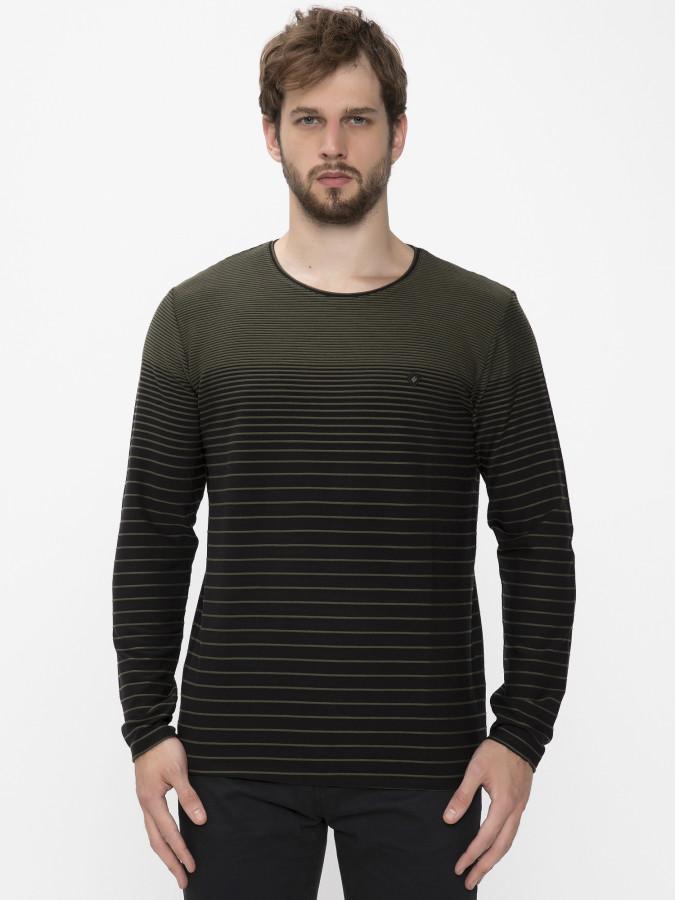 MCL - MCL Bisiklet Yaka Haki Renk Sweatshirt