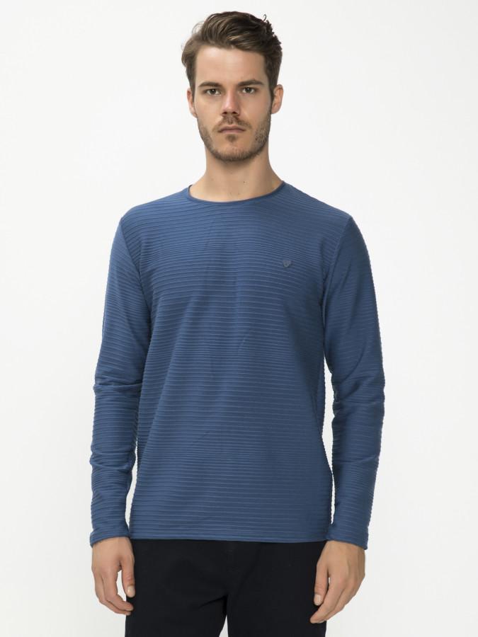 MCL - MCL Bisiklet Yaka İndigo Renk Sweatshirt