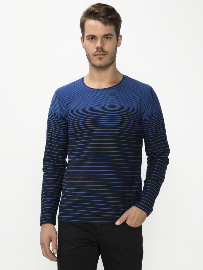 MCL - MCL Bisiklet Yaka Sax Renk Sweatshirt