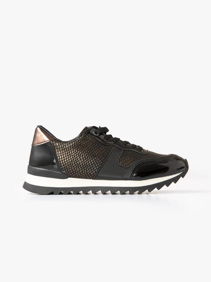 XINT - Xint Bağcıklı Parlak Görünümlü Spor Ayakkabı