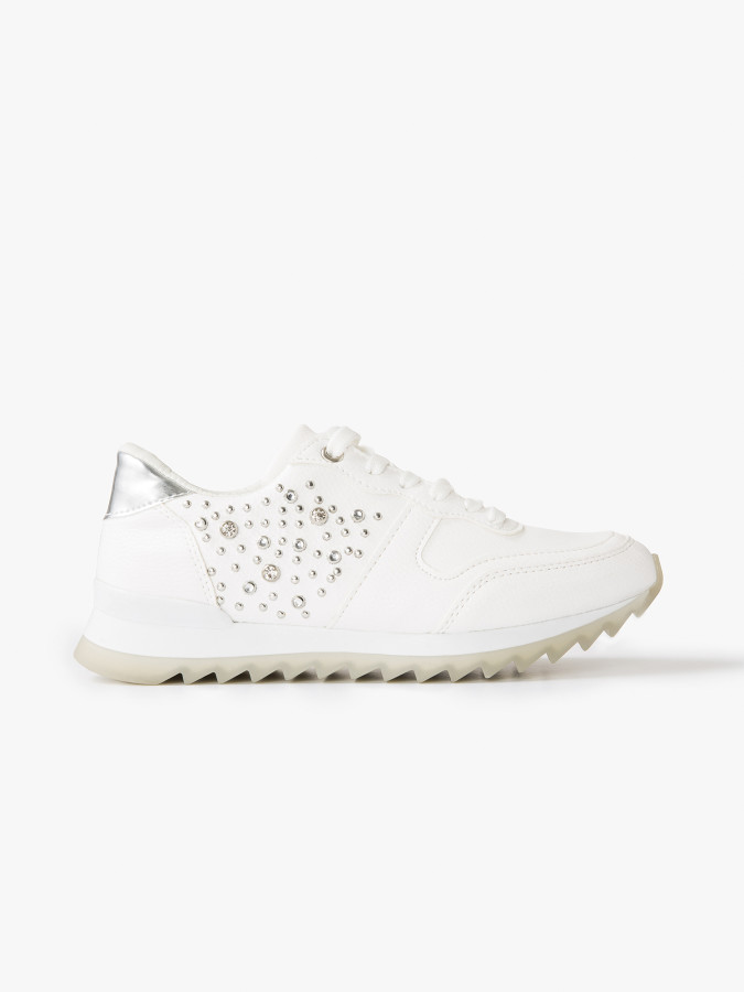 XINT - Xint Bağcıklı Taş Detaylı Spor Ayakkabı