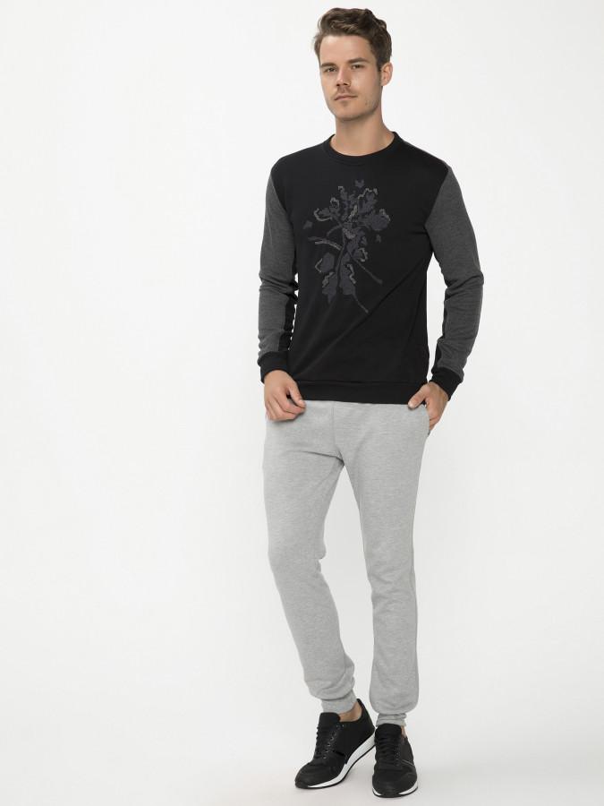 XINT - Xint Bisiklet Yaka Siyah Renk Sweatshirt