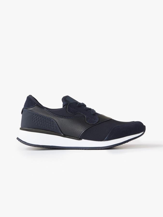 XINT - Xint Kalın Tabanlı Bağcıklı Lacivert Renk Spor Ayakkabı