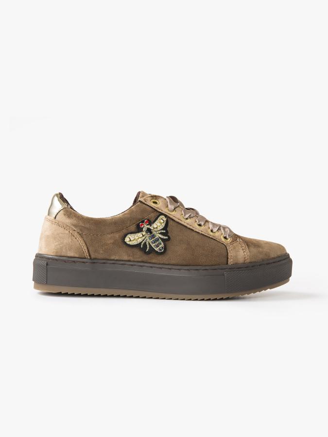 XINT - Xint Kalın Tabanlı İşlemeli Blucher Ayakkabı
