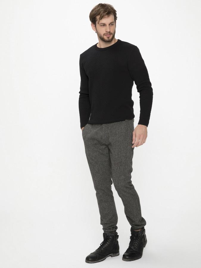 XINT - Xint Paçaları Lastikli Siyah Renk Pantolon