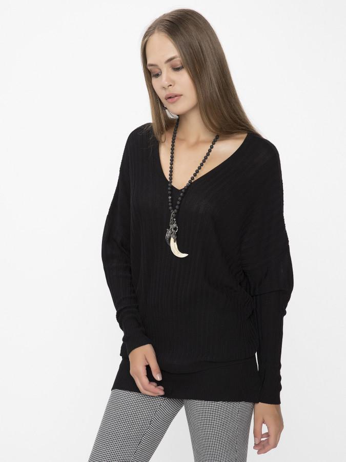 XINT - Xint V Yaka Siyah Renk Kazak