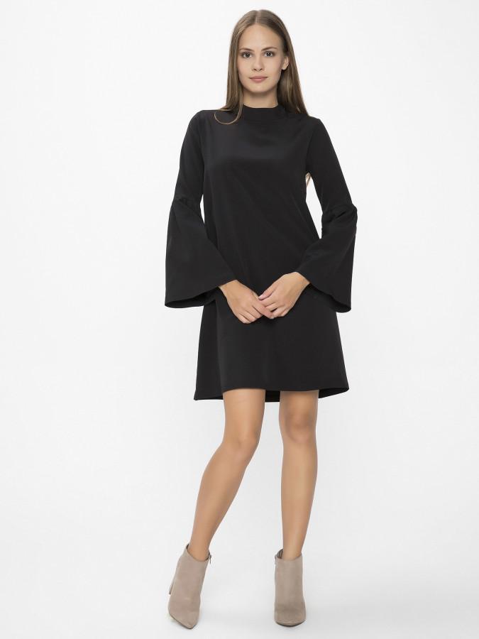 XINT - Xint Yarım Dik Yaka Siyah Renk Elbise (1)